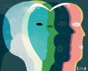 Alla lika, illustration om mänskliga rättigheter av Kati Mets