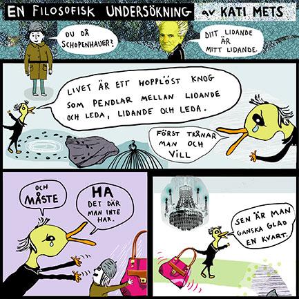 En filosofisk undersökninga av Kati Mets, Schopenhauer
