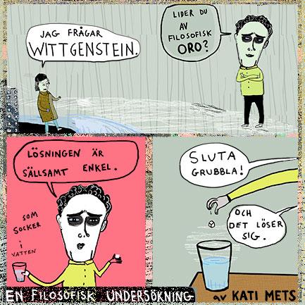 En filosofisk undersökning av Kati Mets, Wittgenstein