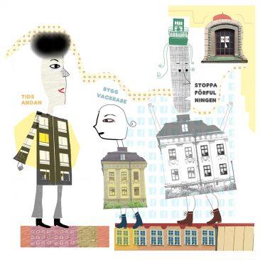 Bygg vackrare, illustration för Arkitekten av Kati Mets