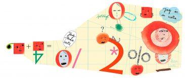 Om dyskalkyli, illustration för Specialpedagogik, av Kati Mets