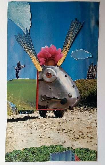 liten robot, collage