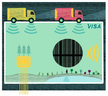 Illustration Kati Mets för Arkitekten, Klyfta stad och land